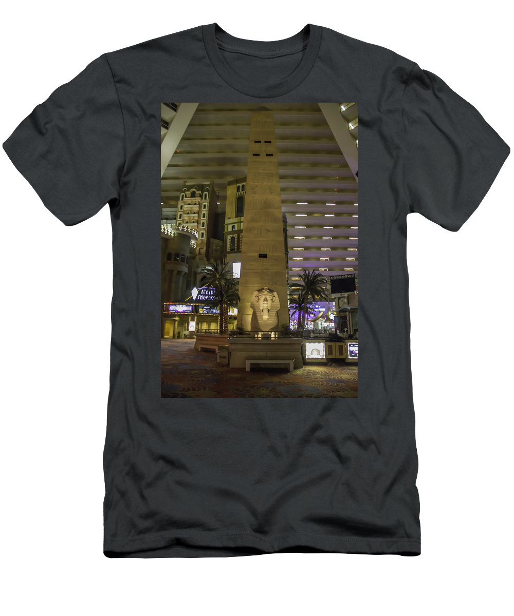 2015 Men's T-Shirt (Athletic Fit) featuring the photograph Luxor Interior 1 by Teresa Mucha
