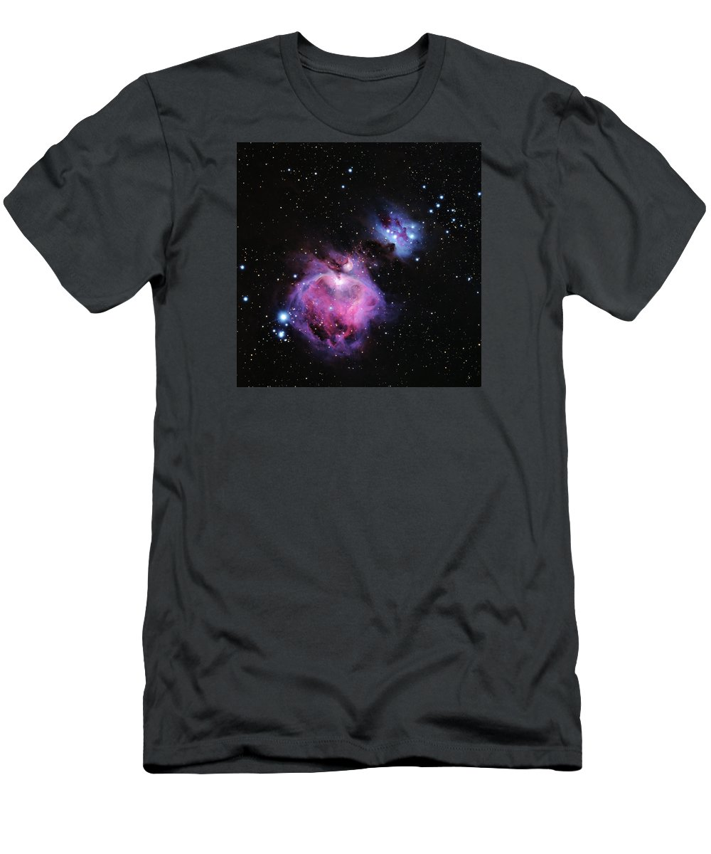 M42 Men's T-Shirt (Athletic Fit) featuring the photograph M42--the Great Nebula In Orion by Alan Vance Ley