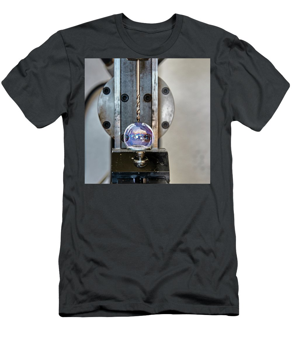 Machinist Men's T-Shirt (Athletic Fit) featuring the photograph Machinists Drill With Precision by David Hayden