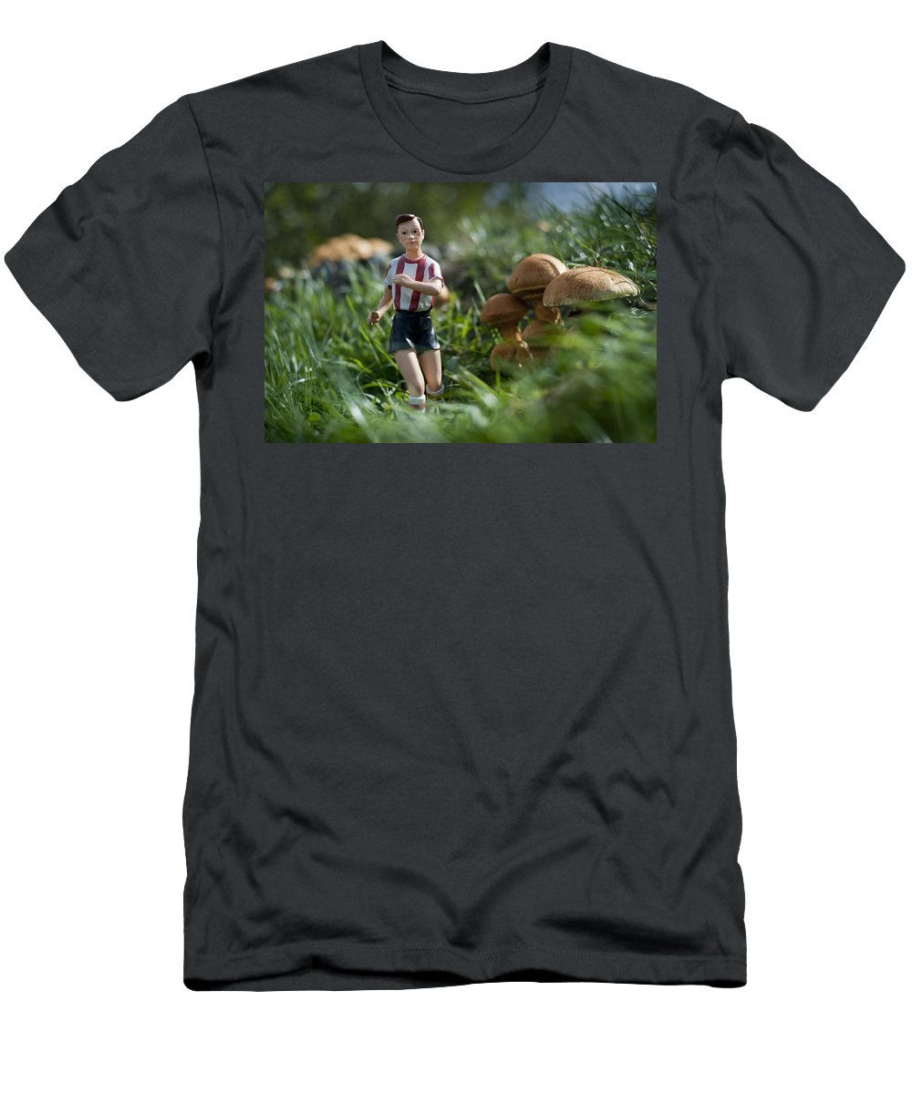 Spain Men's T-Shirt (Athletic Fit) featuring the photograph Made In China Soccer Player by Rafa Rivas