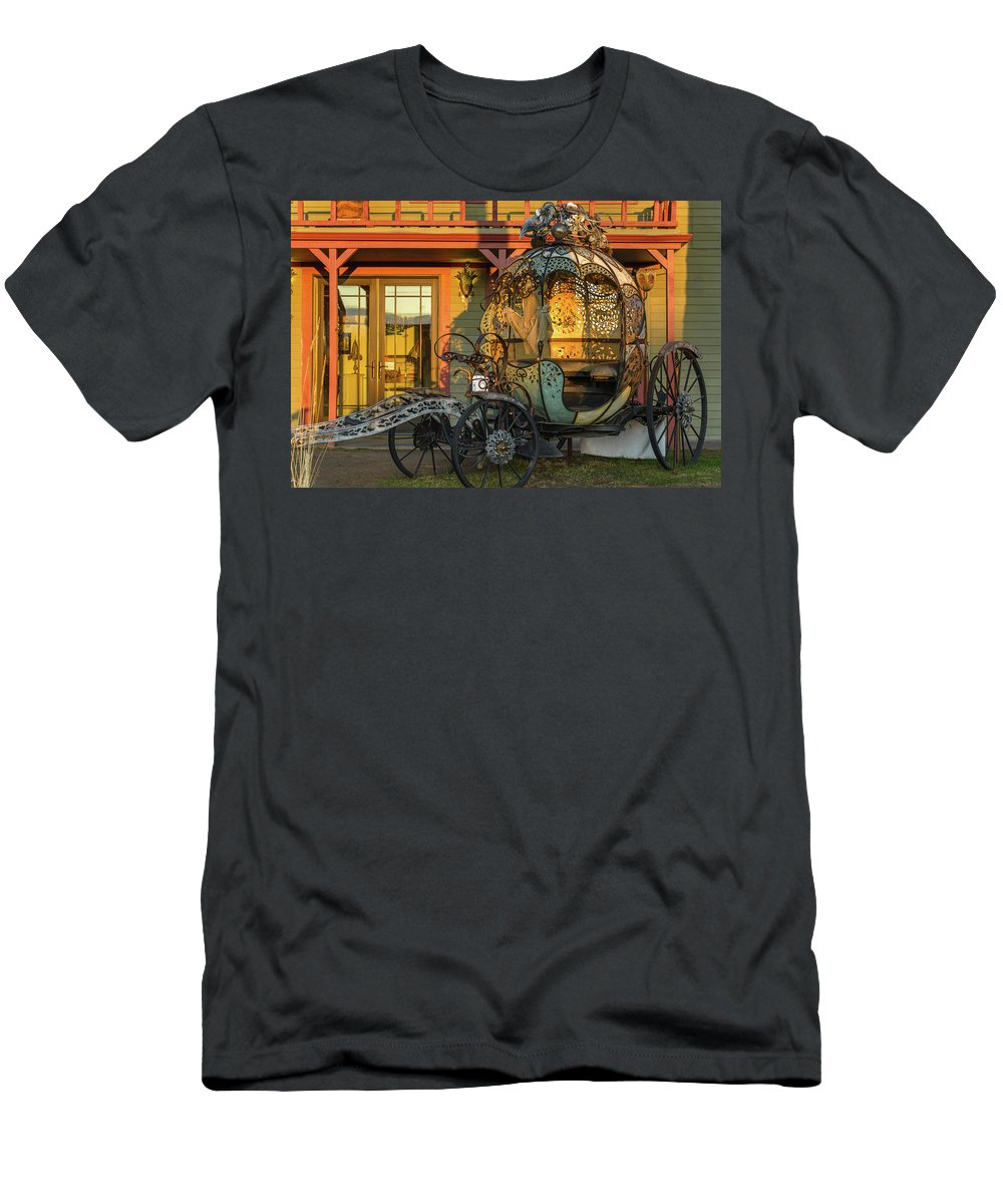Cinderella Men's T-Shirt (Athletic Fit) featuring the photograph Magic Carriage by Joe Hudspeth