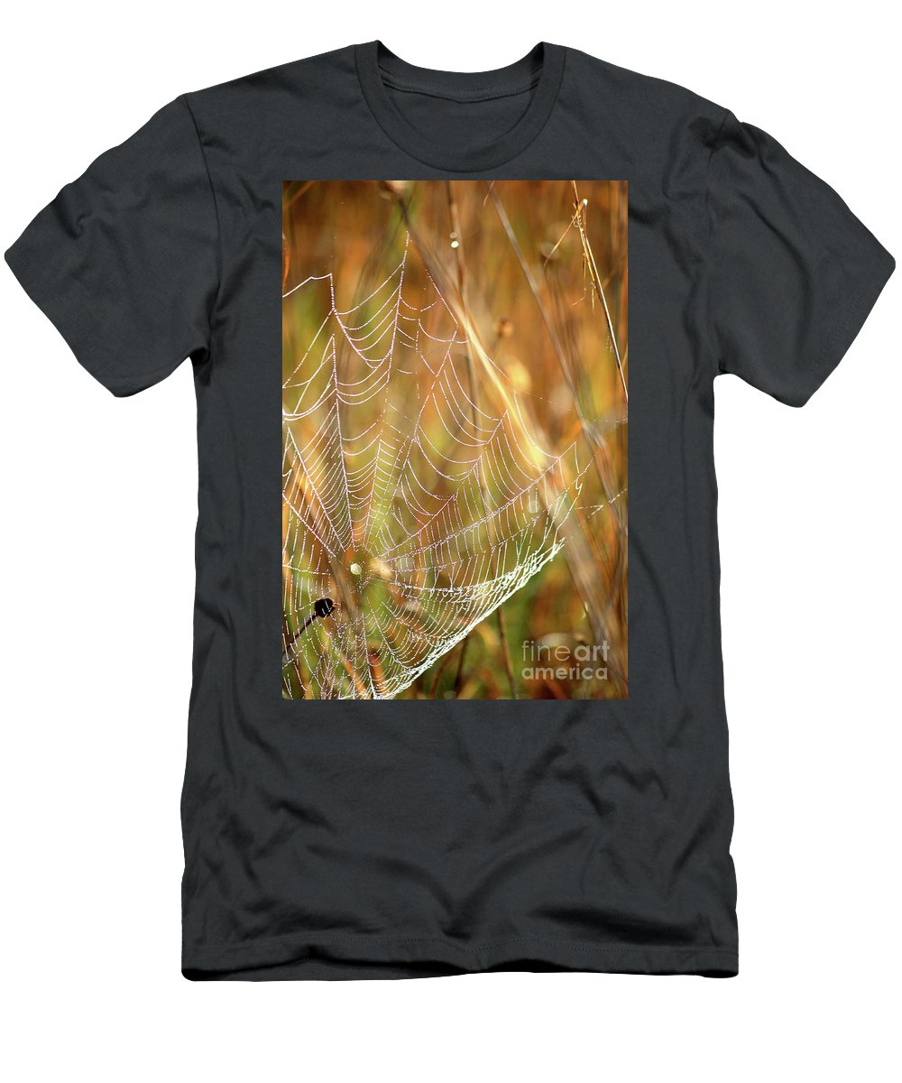 Marsh Men's T-Shirt (Athletic Fit) featuring the photograph Magic In The Marsh by Carol Groenen