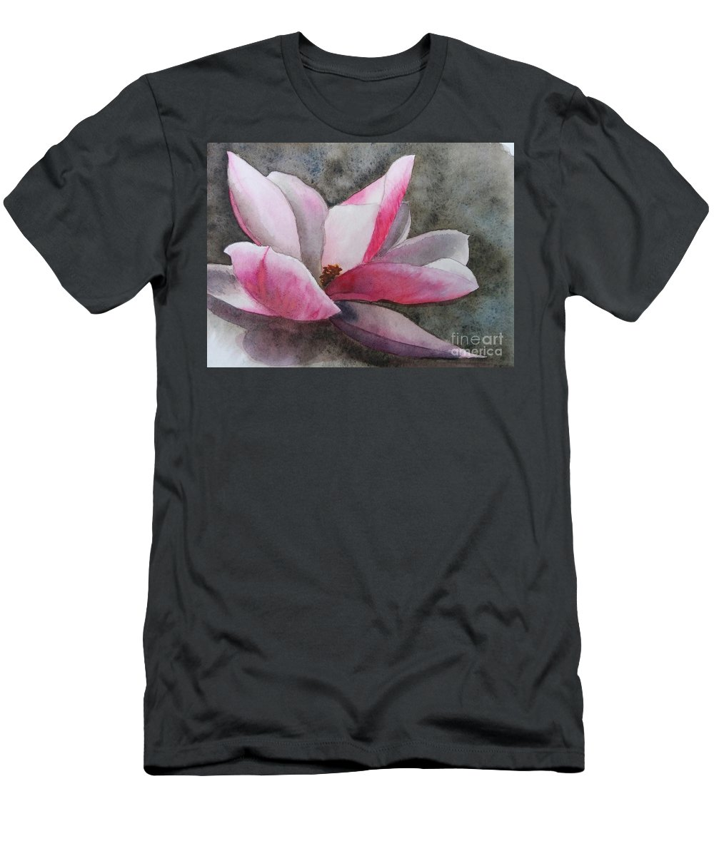 Magnolia Men's T-Shirt (Athletic Fit) featuring the painting Magnolia In Shadow by Shari Monner