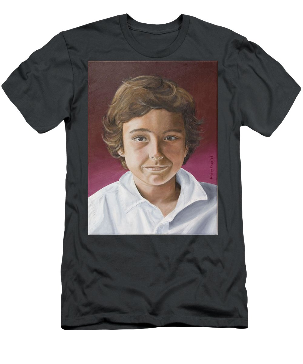 Portrait Men's T-Shirt (Athletic Fit) featuring the painting Magnus by Rob De Vries