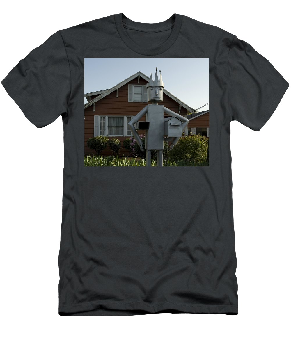 Mail Men's T-Shirt (Athletic Fit) featuring the photograph Mailbox King by Sara Stevenson