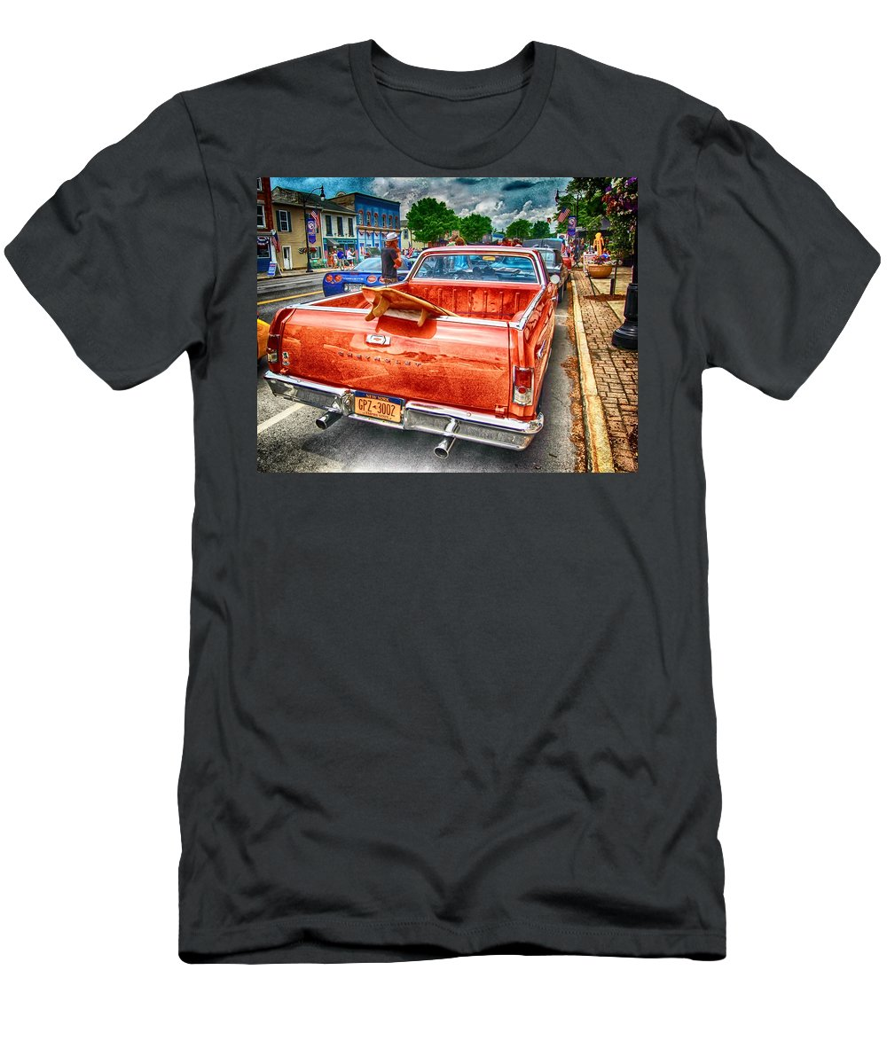 Men's T-Shirt (Athletic Fit) featuring the photograph Main Street Surfing by Marvin Borst