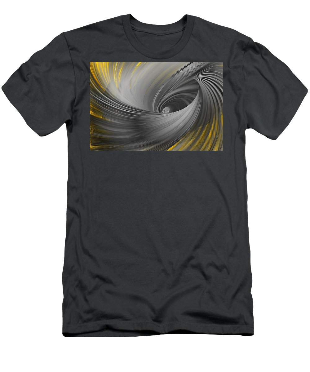 Yellow Men's T-Shirt (Athletic Fit) featuring the painting Majestic Soar by Lourry Legarde