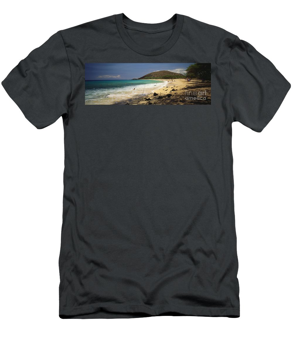 Beach Men's T-Shirt (Athletic Fit) featuring the photograph Makena Beach Panorama by Carl Shaneff - Printscapes