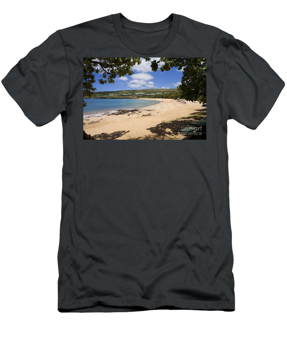 Bay Men's T-Shirt (Athletic Fit) featuring the photograph Manele Bay II by Ron Dahlquist - Printscapes