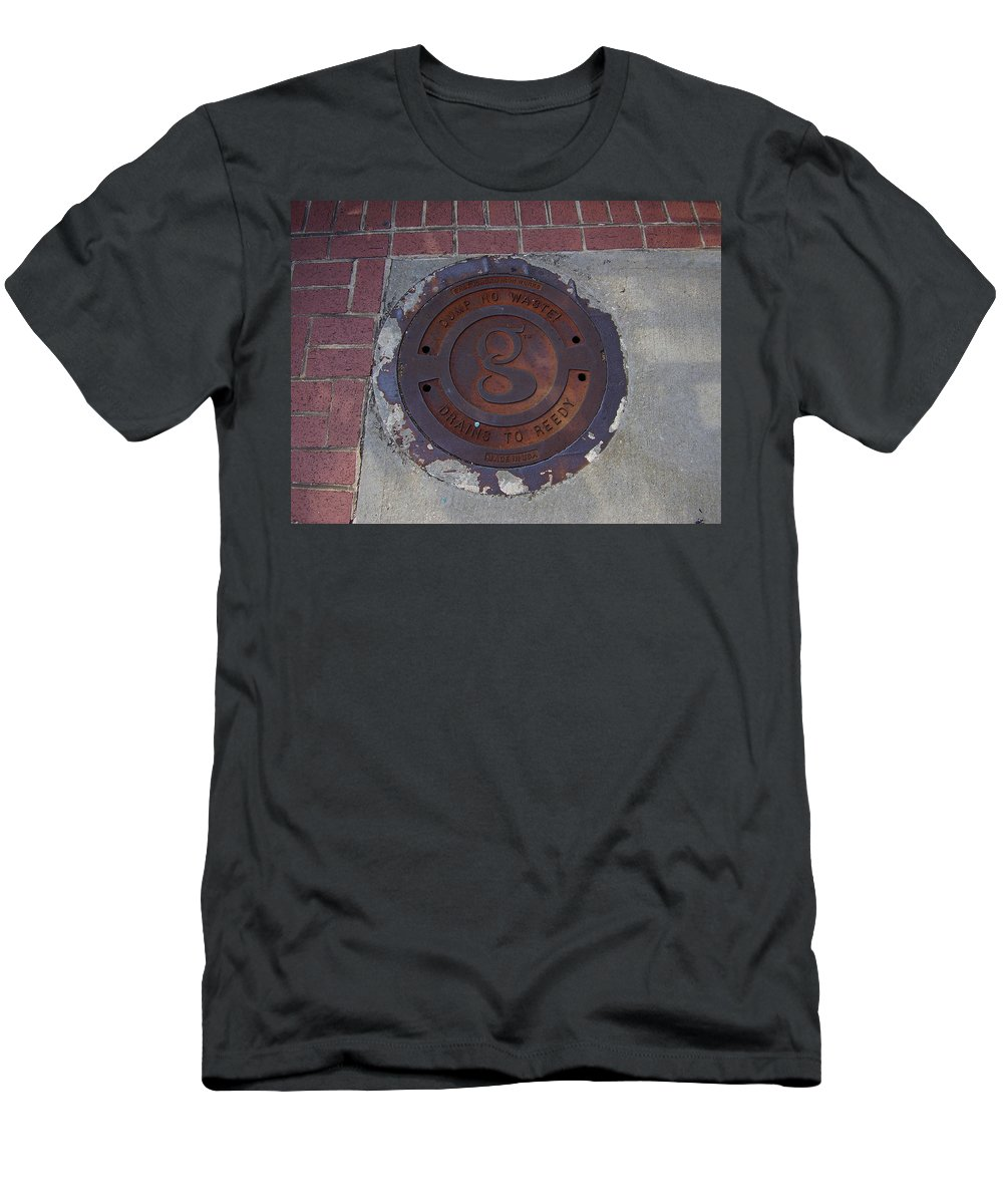 Manhole Men's T-Shirt (Athletic Fit) featuring the photograph Manhole II by Flavia Westerwelle