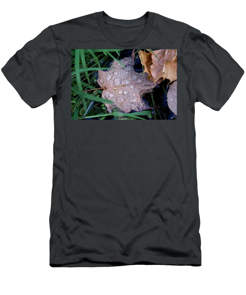 Maple Leaf Men's T-Shirt (Athletic Fit) featuring the photograph Maple Dew by Ben Upham III
