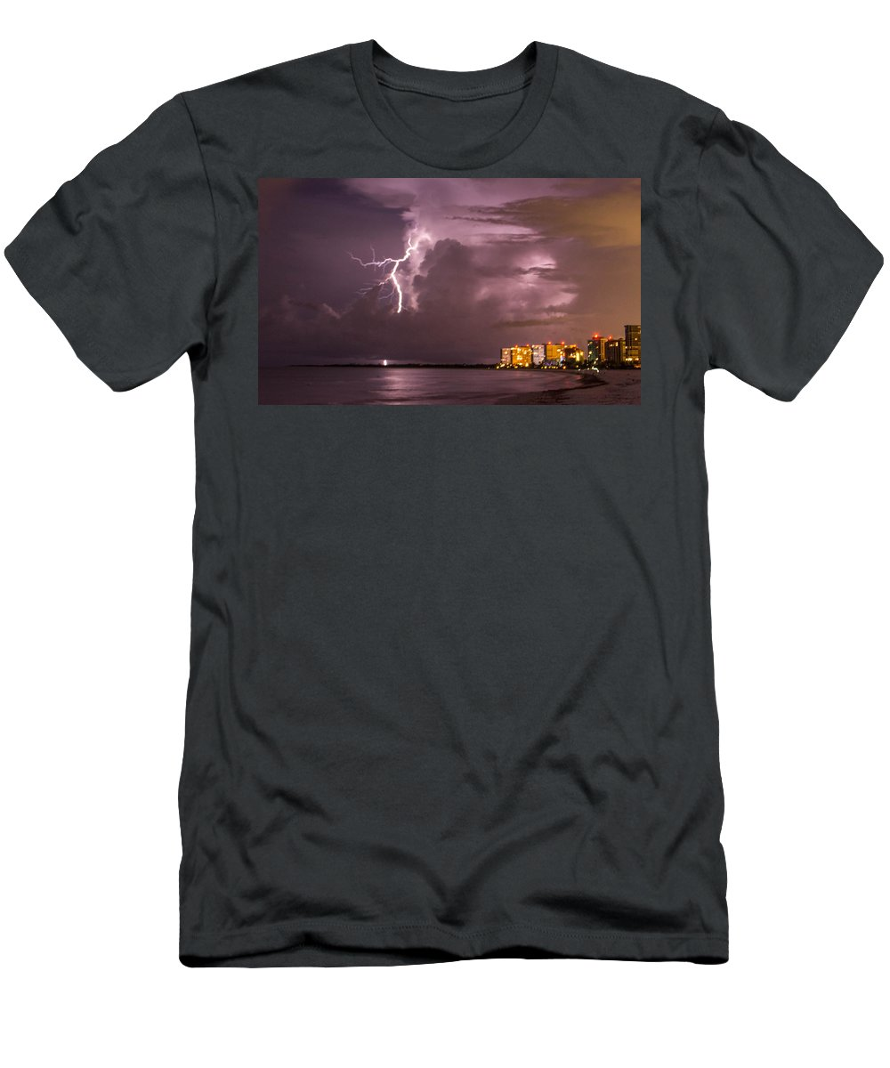 Men's T-Shirt (Athletic Fit) featuring the photograph Marco Lightning by Brian Gonzalez