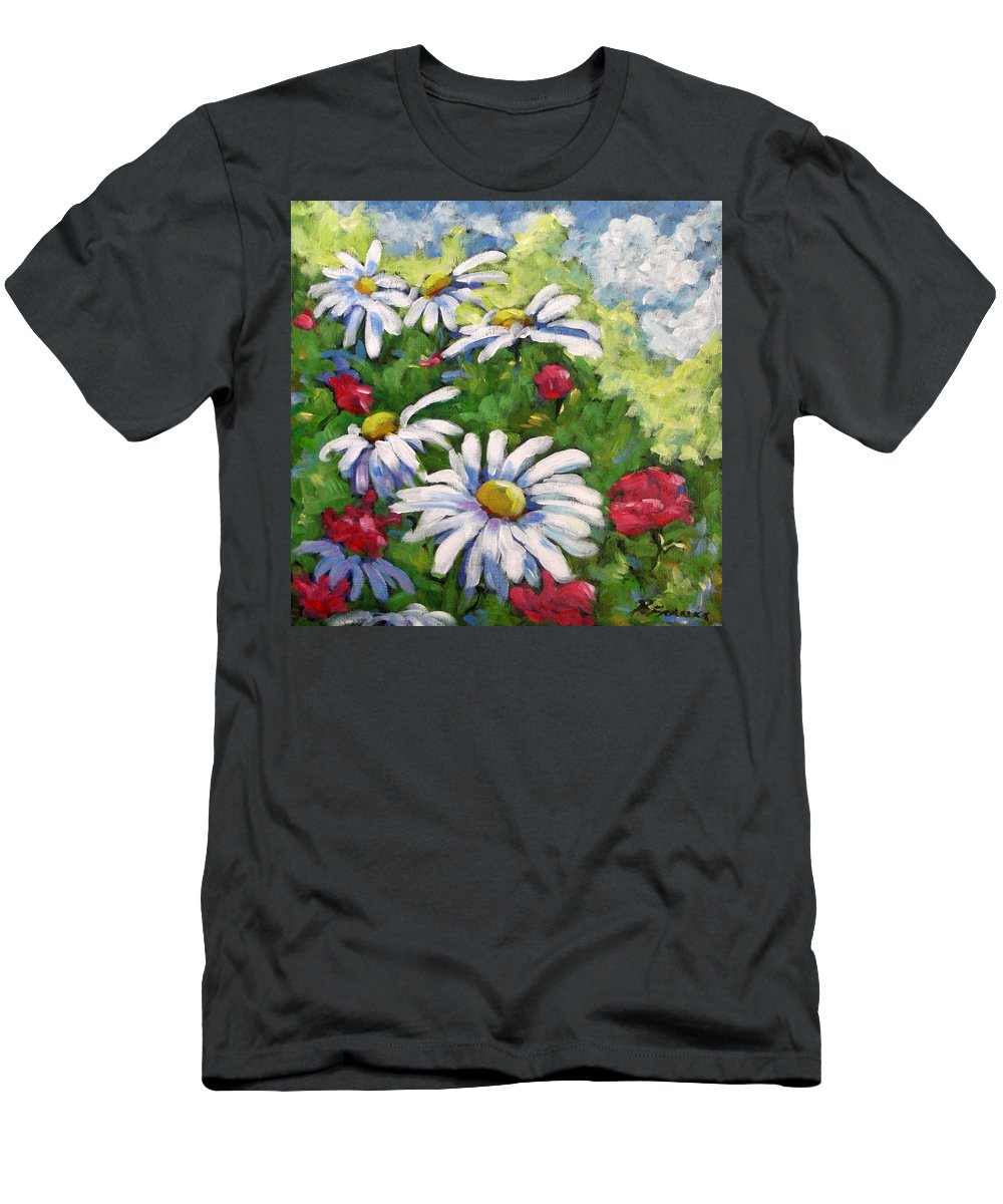 Daysy Men's T-Shirt (Athletic Fit) featuring the painting Marguerites 002 by Richard T Pranke