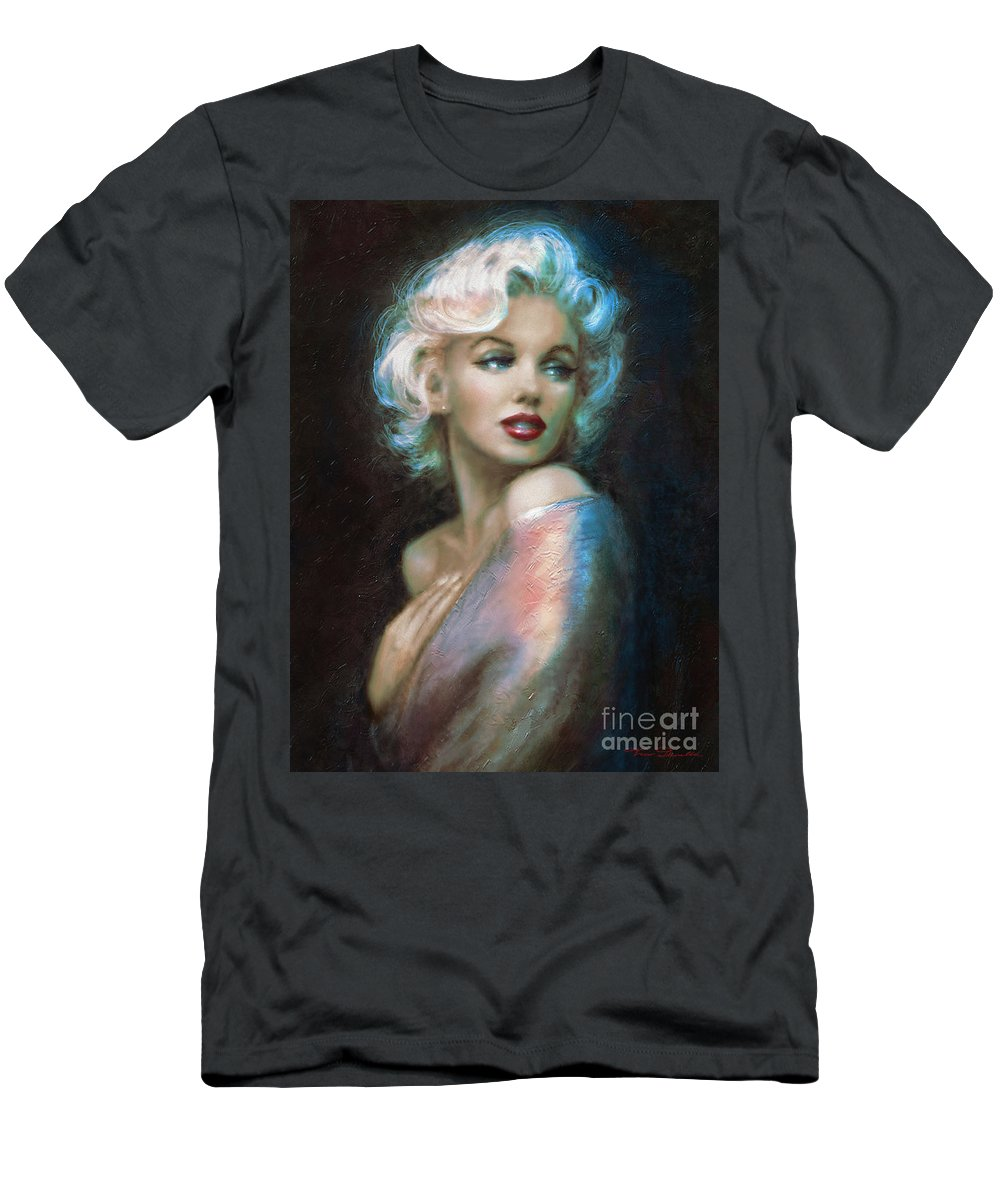 Marilyn T-Shirt featuring the painting Marilyn Romantic Ww 6 A by Theo Danella