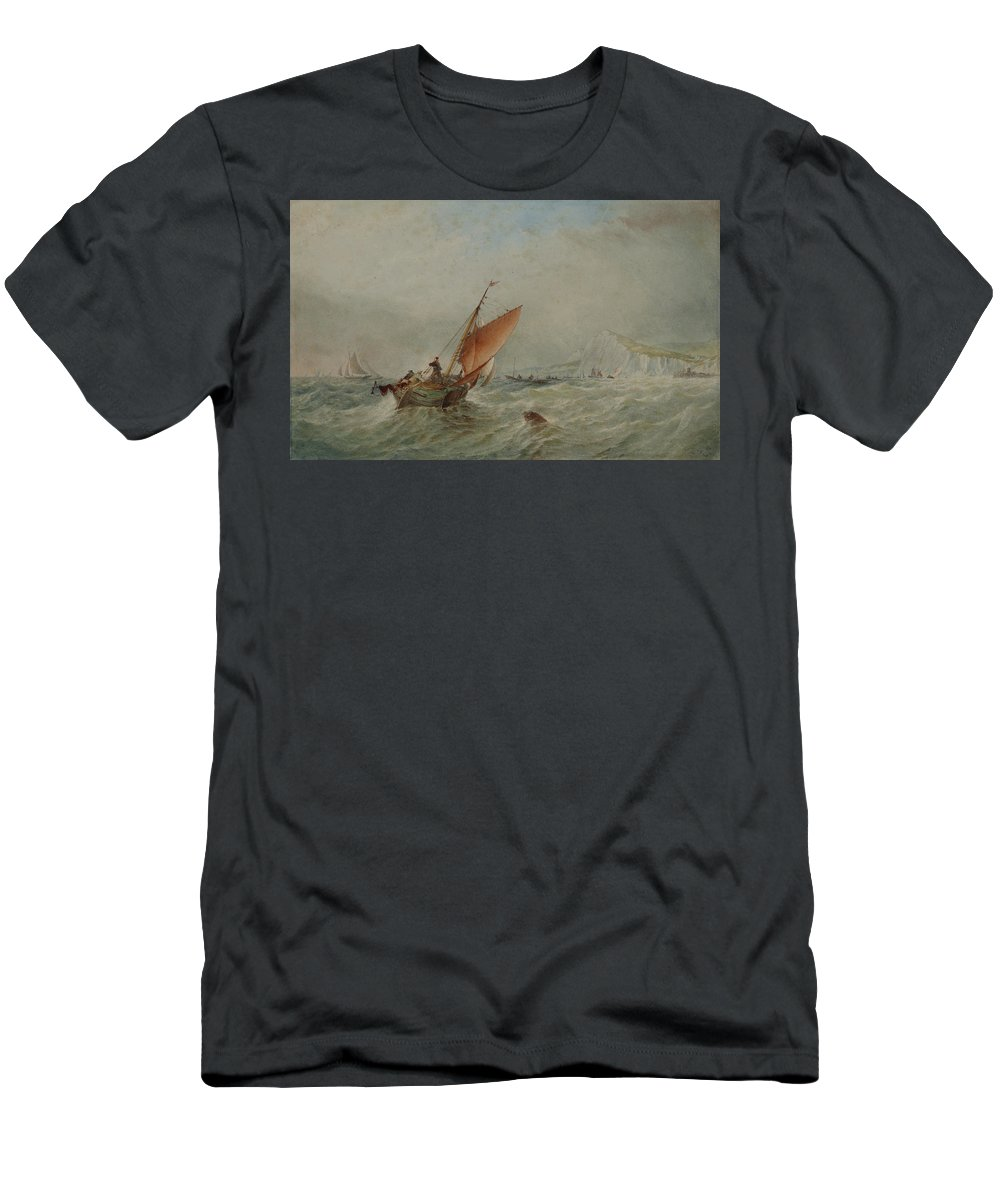 Marine Men's T-Shirt (Athletic Fit) featuring the painting Marine by Thomas Robins