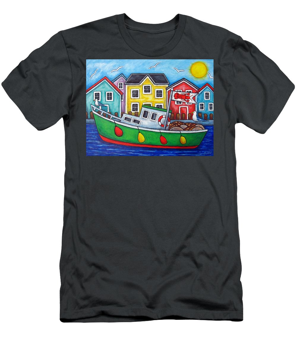 Lisa Lorenz Men's T-Shirt (Athletic Fit) featuring the painting Maritime Special by Lisa Lorenz