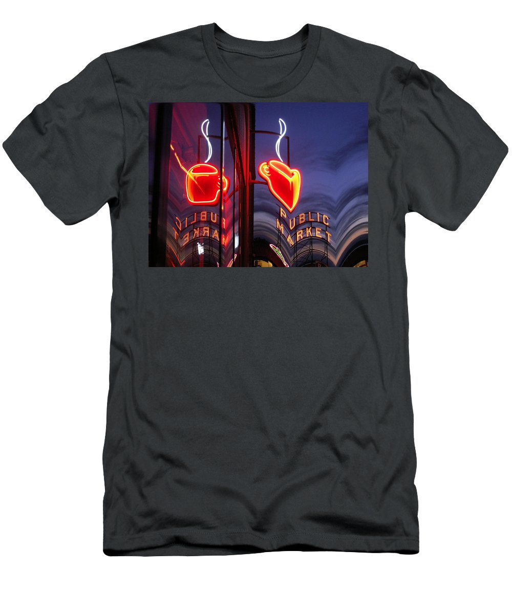 Seattle Men's T-Shirt (Athletic Fit) featuring the photograph Market Cup 2 by Tim Allen