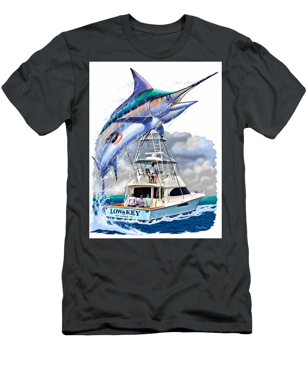 Marlin Men's T-Shirt (Athletic Fit) featuring the digital art Marlin Commission by Carey Chen
