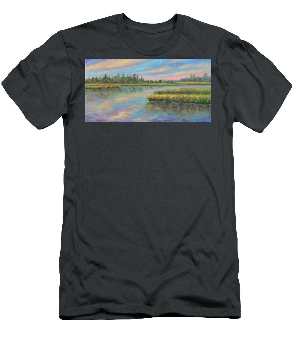 Marsh T-Shirt featuring the painting Marsh Glow in the Low Country by Jeff Pittman
