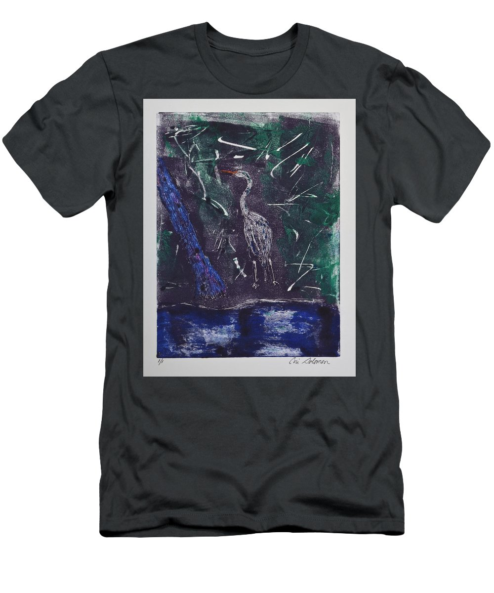 Monotype Men's T-Shirt (Athletic Fit) featuring the mixed media Marsh Magic by Cori Solomon