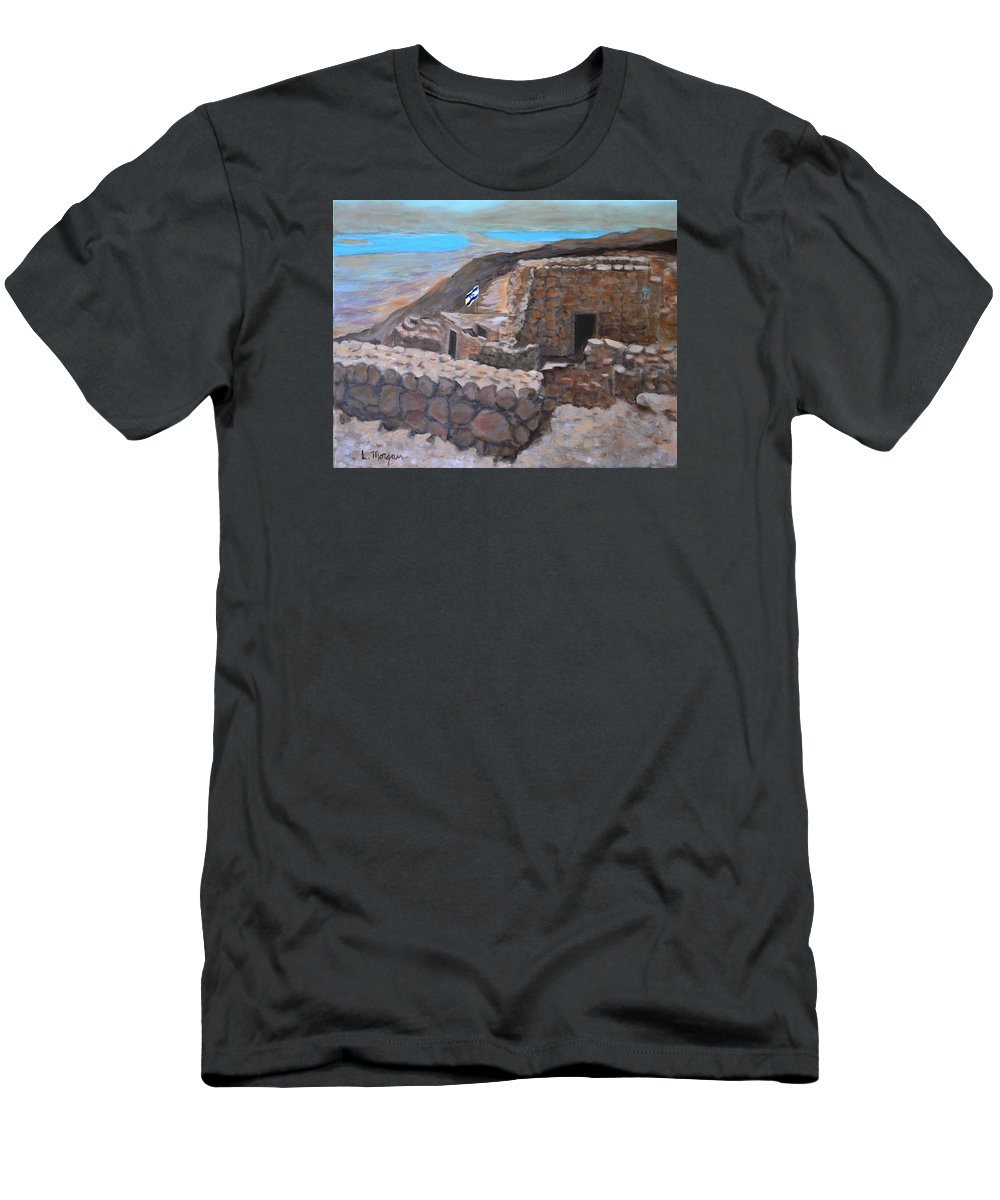 Masada T-Shirt featuring the painting Masada by Laurie Morgan