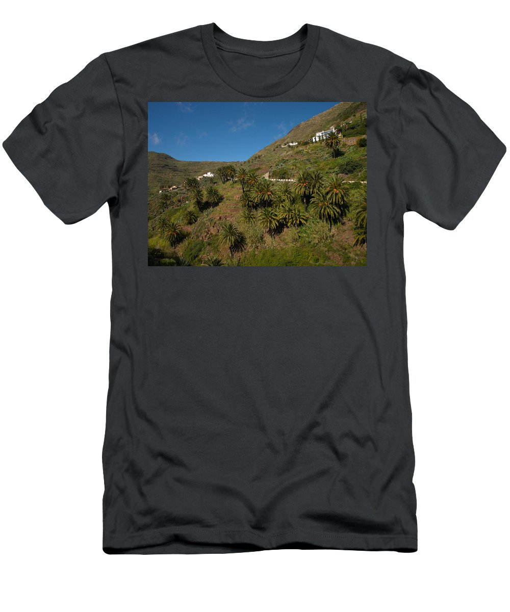 Landscape Men's T-Shirt (Athletic Fit) featuring the photograph Masca Valley And Parque Rural De Teno 3 by Jouko Lehto