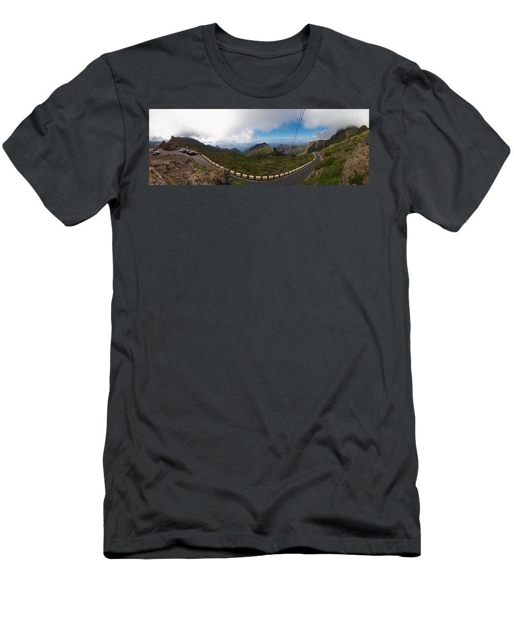 Landscape Men's T-Shirt (Athletic Fit) featuring the photograph Masca Views 2 by Jouko Lehto