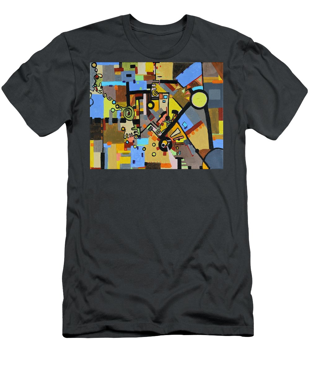 Juxtaposition Men's T-Shirt (Athletic Fit) featuring the painting Masculine And Feminine by Regina Valluzzi