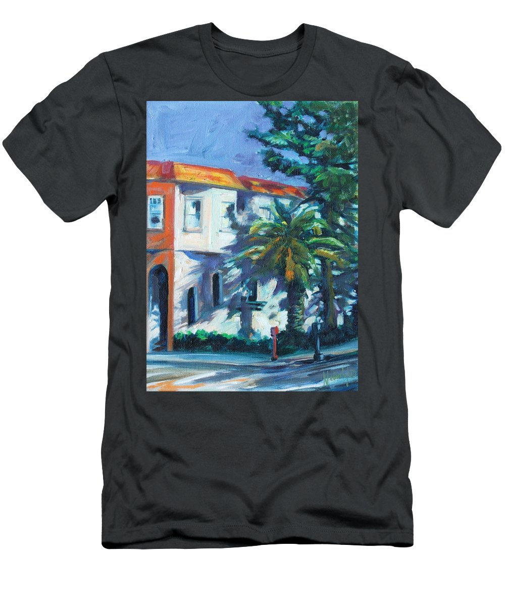 Cityscape Men's T-Shirt (Athletic Fit) featuring the painting Masonic by Rick Nederlof
