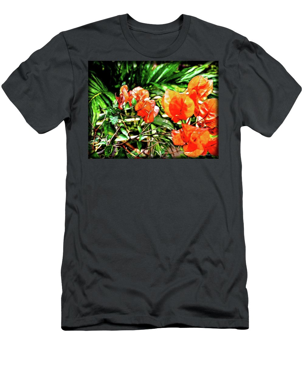 Botanical Men's T-Shirt (Athletic Fit) featuring the digital art Maui Floral by Joan Minchak