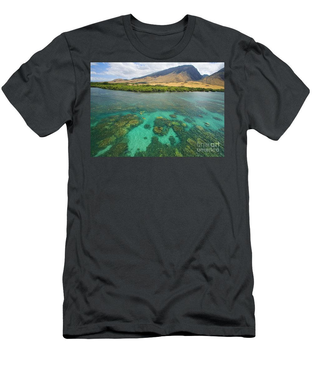 Above Men's T-Shirt (Athletic Fit) featuring the photograph Maui Landscape by Ron Dahlquist - Printscapes