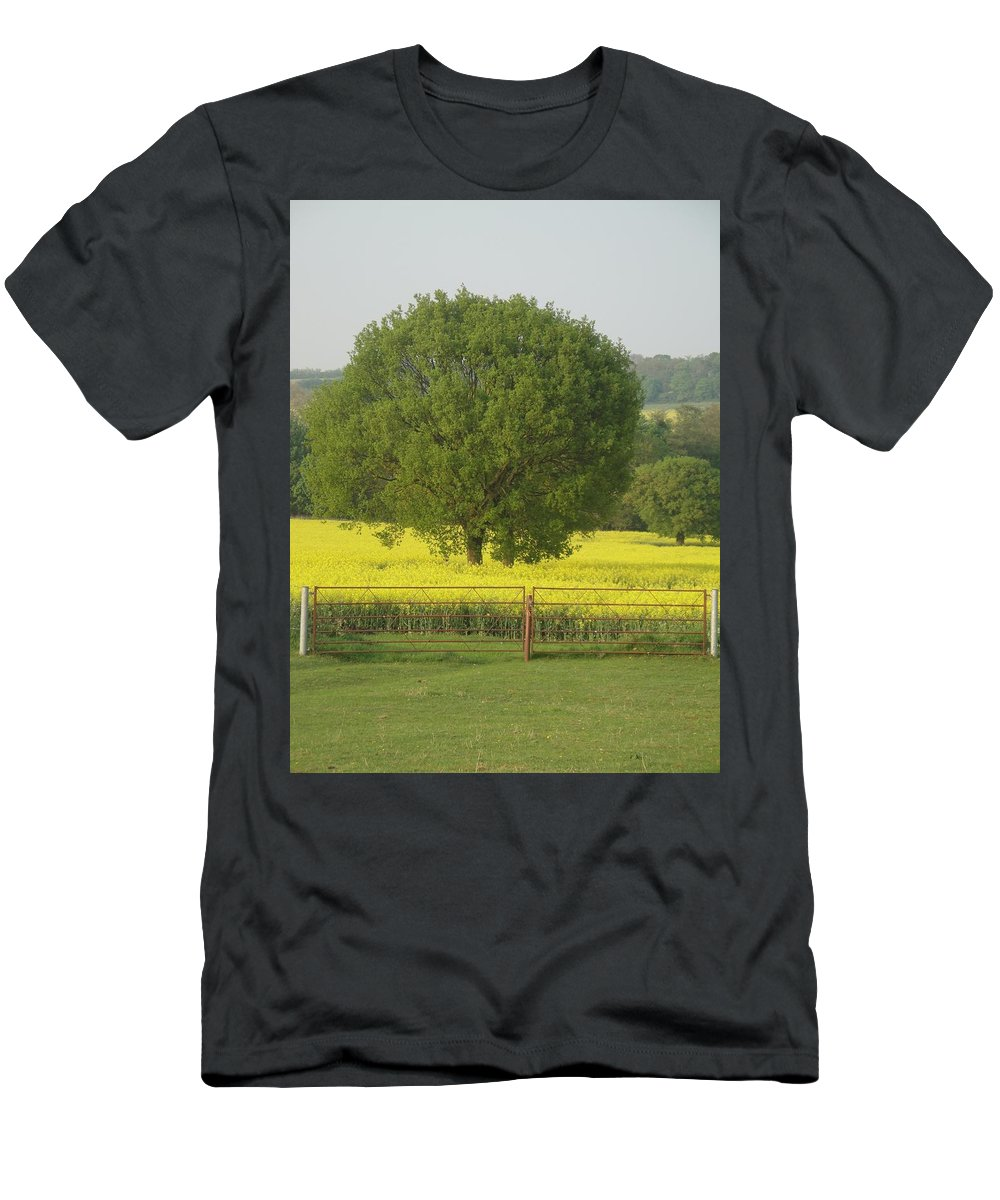 Tree Men's T-Shirt (Athletic Fit) featuring the photograph May Fields by Susan Baker