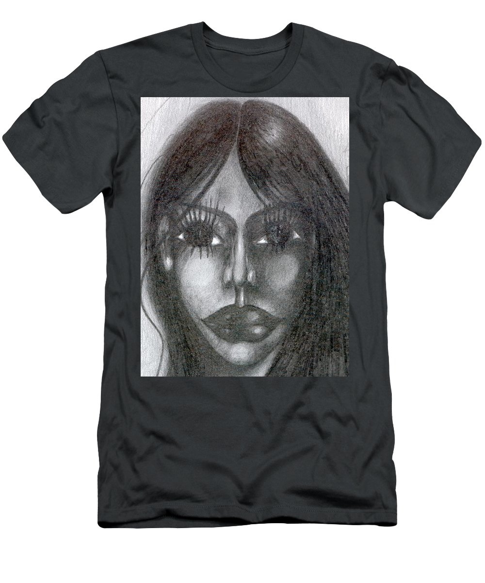Psychedelic Men's T-Shirt (Athletic Fit) featuring the drawing Maya by Wojtek Kowalski