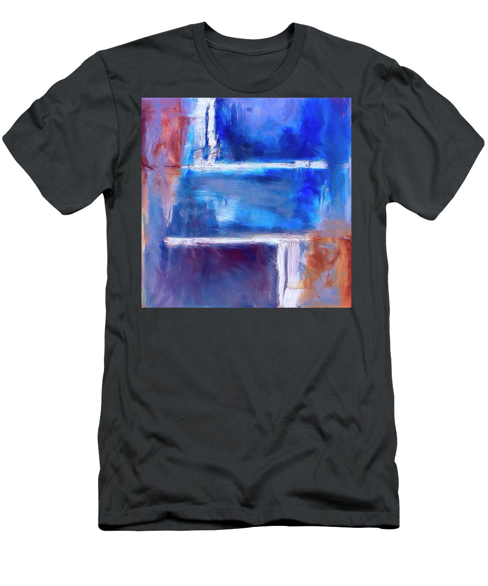 Abstract Men's T-Shirt (Athletic Fit) featuring the painting Maze by Dominic Piperata
