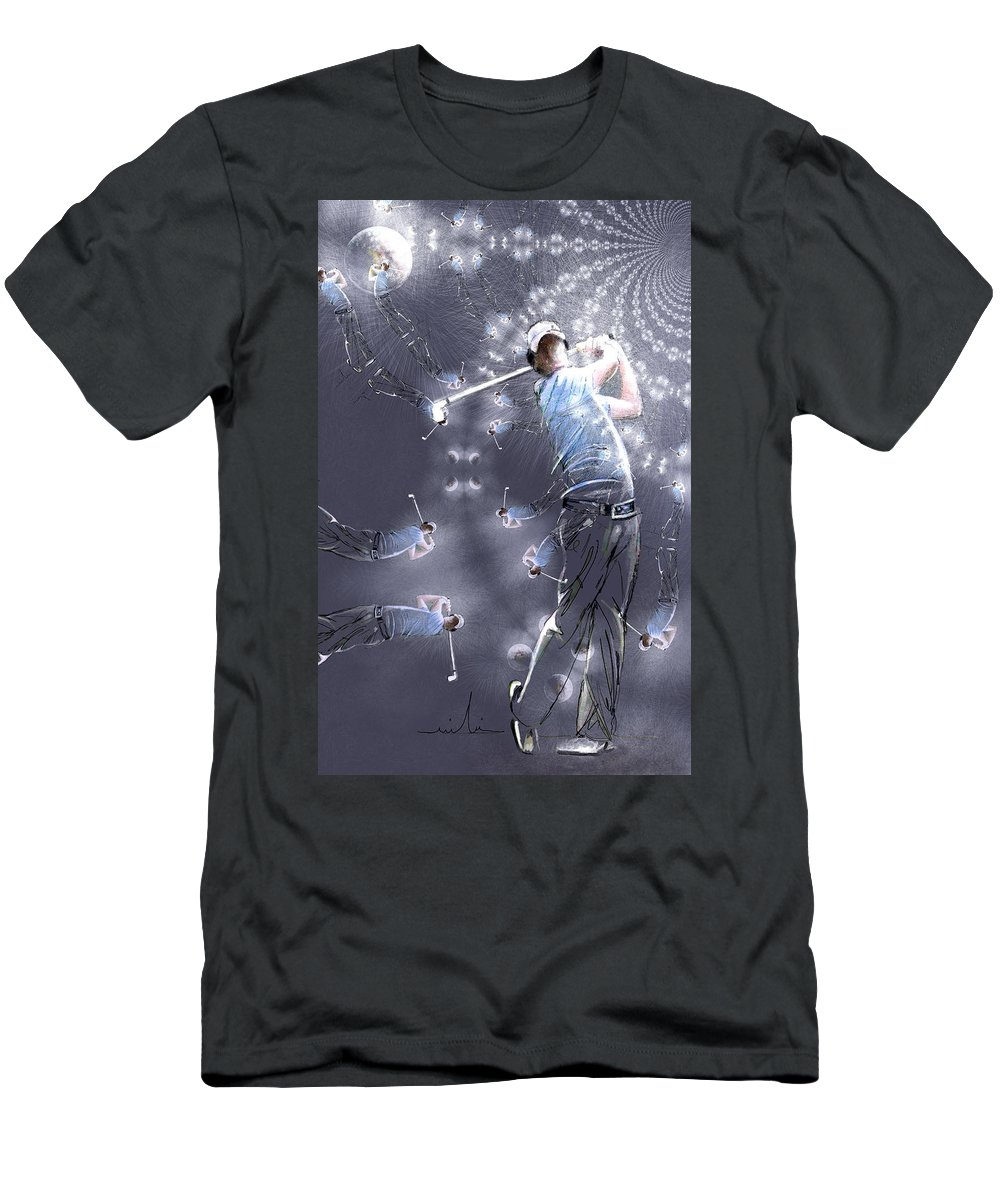 Sports Men's T-Shirt (Athletic Fit) featuring the painting Mcilroy Mania by Miki De Goodaboom