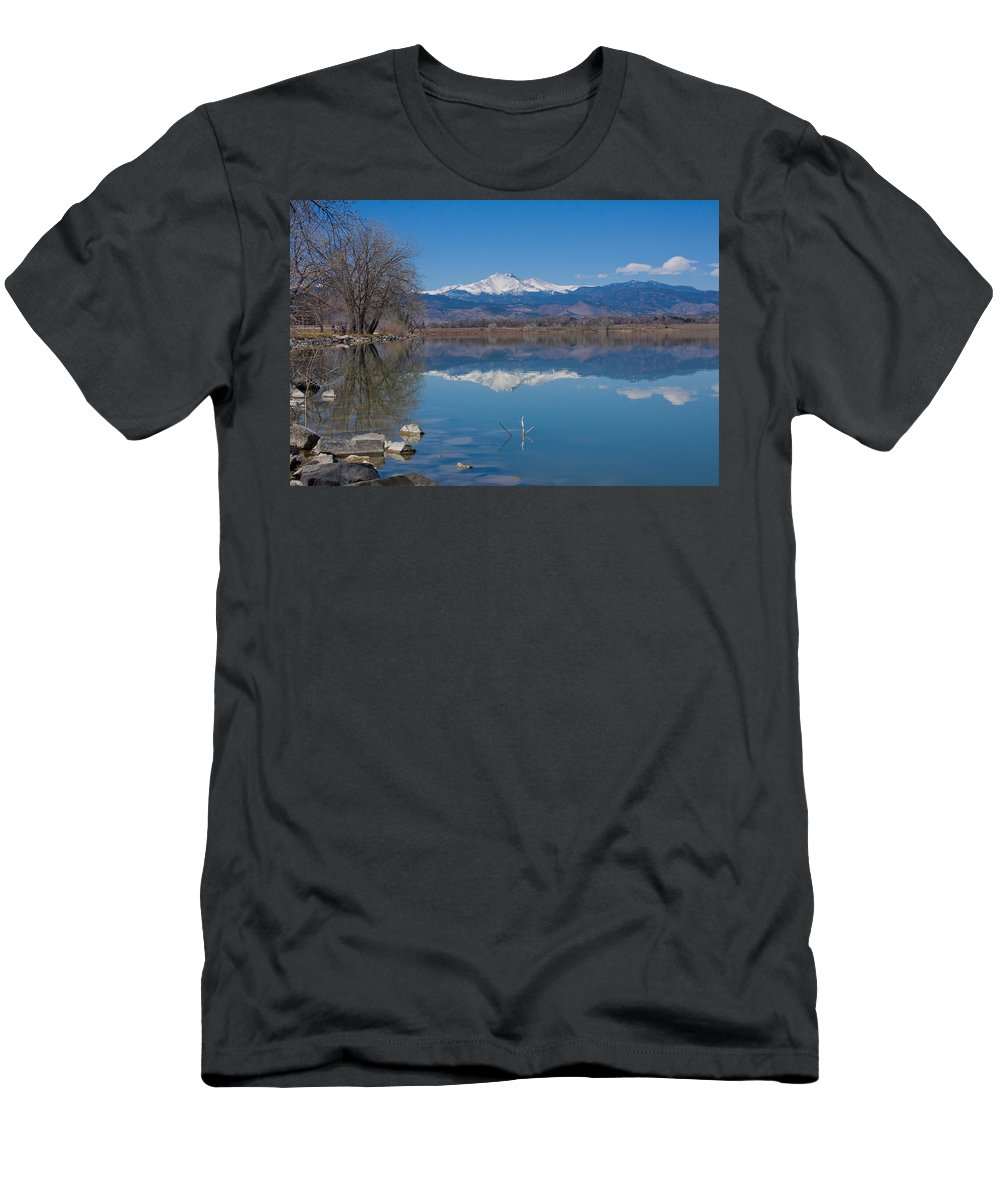 Lake Men's T-Shirt (Athletic Fit) featuring the photograph Mcintosh Lake Reflections by James BO Insogna