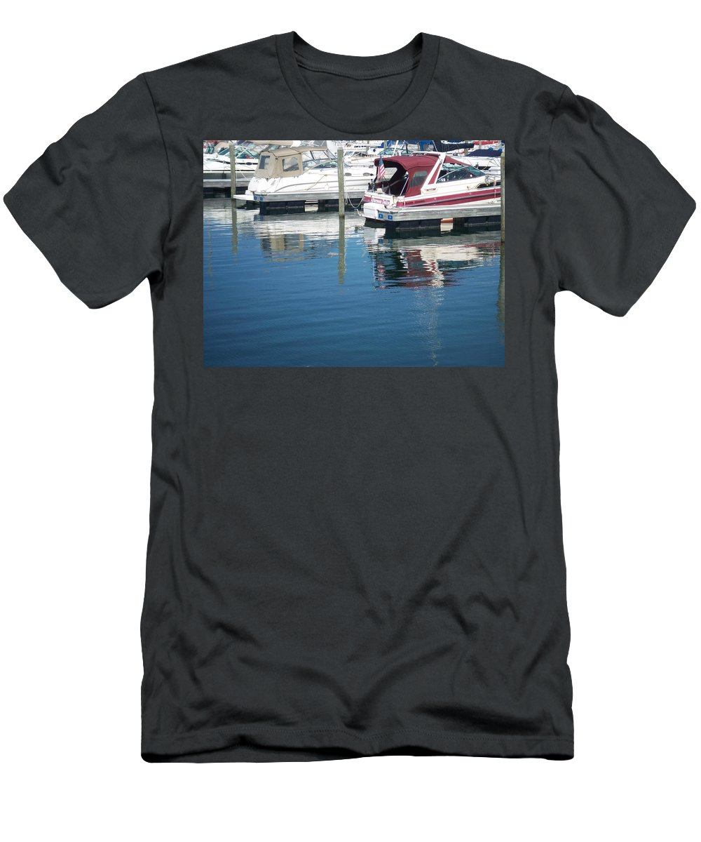 Mckinley Marina Men's T-Shirt (Athletic Fit) featuring the photograph Mckinley Marina 1 by Anita Burgermeister