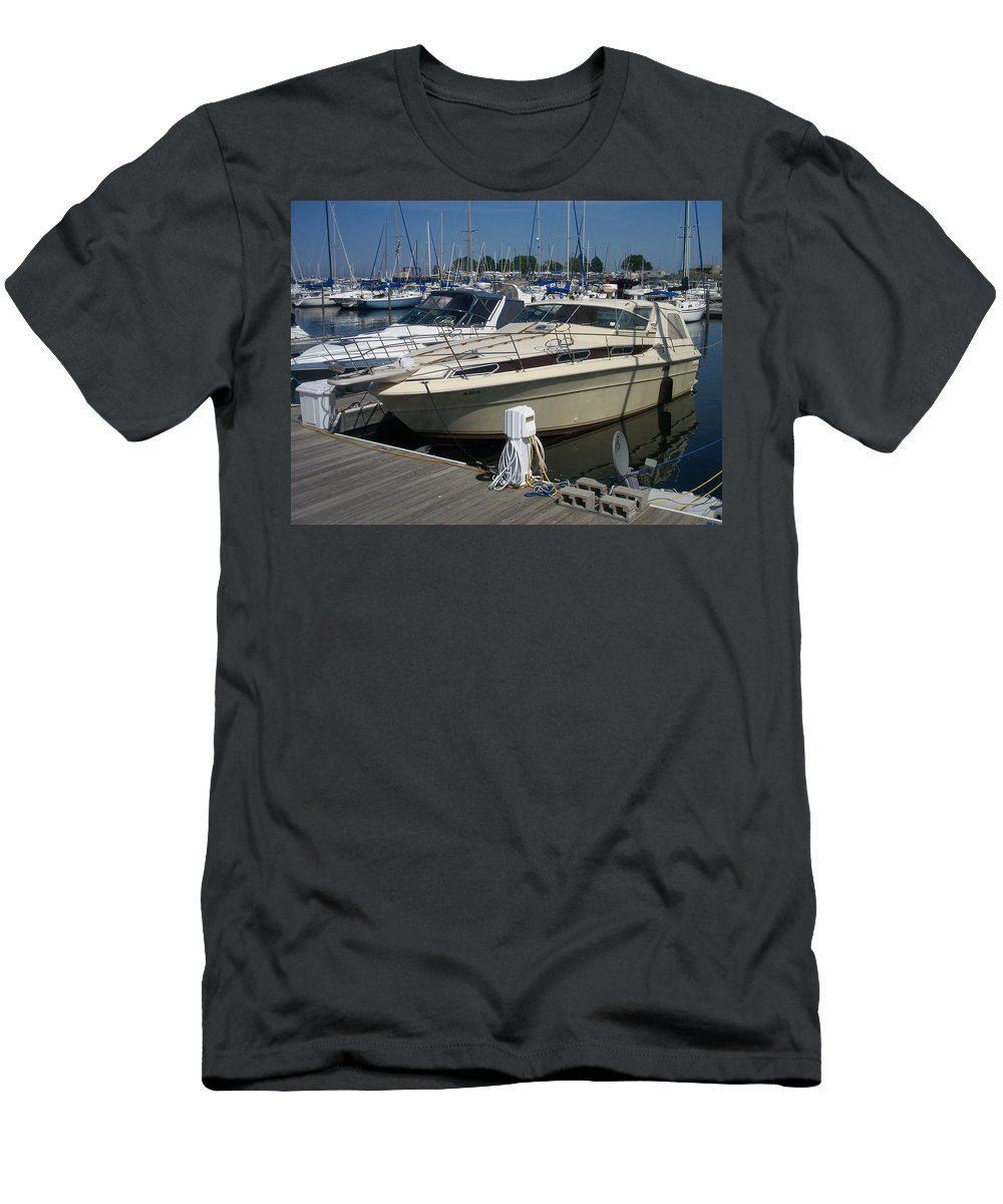 Mckinley Marina Men's T-Shirt (Athletic Fit) featuring the photograph Mckinley Marina 7 by Anita Burgermeister