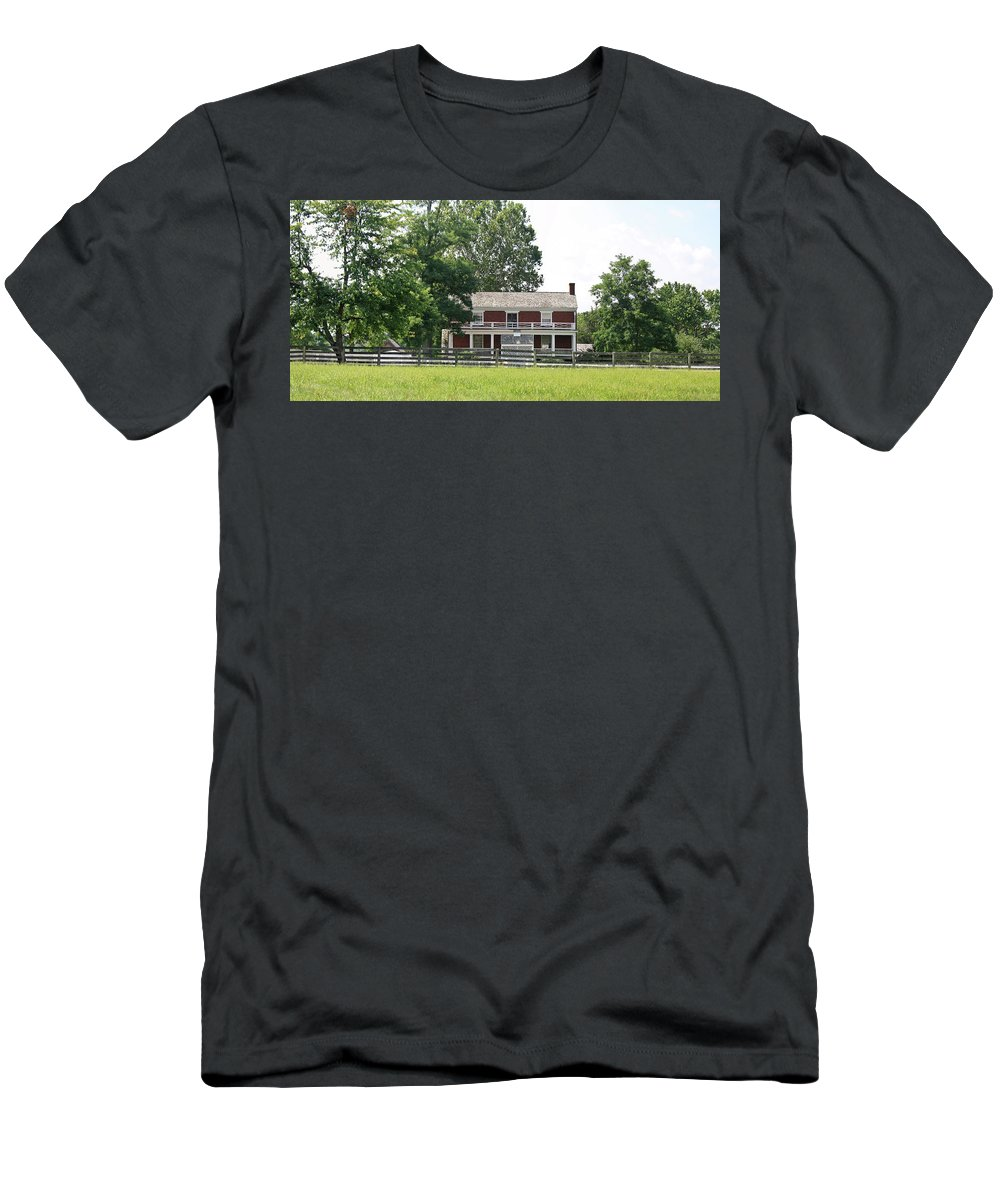 Appomattox Men's T-Shirt (Athletic Fit) featuring the photograph Mclean House Appomattox Court House Virginia by Teresa Mucha