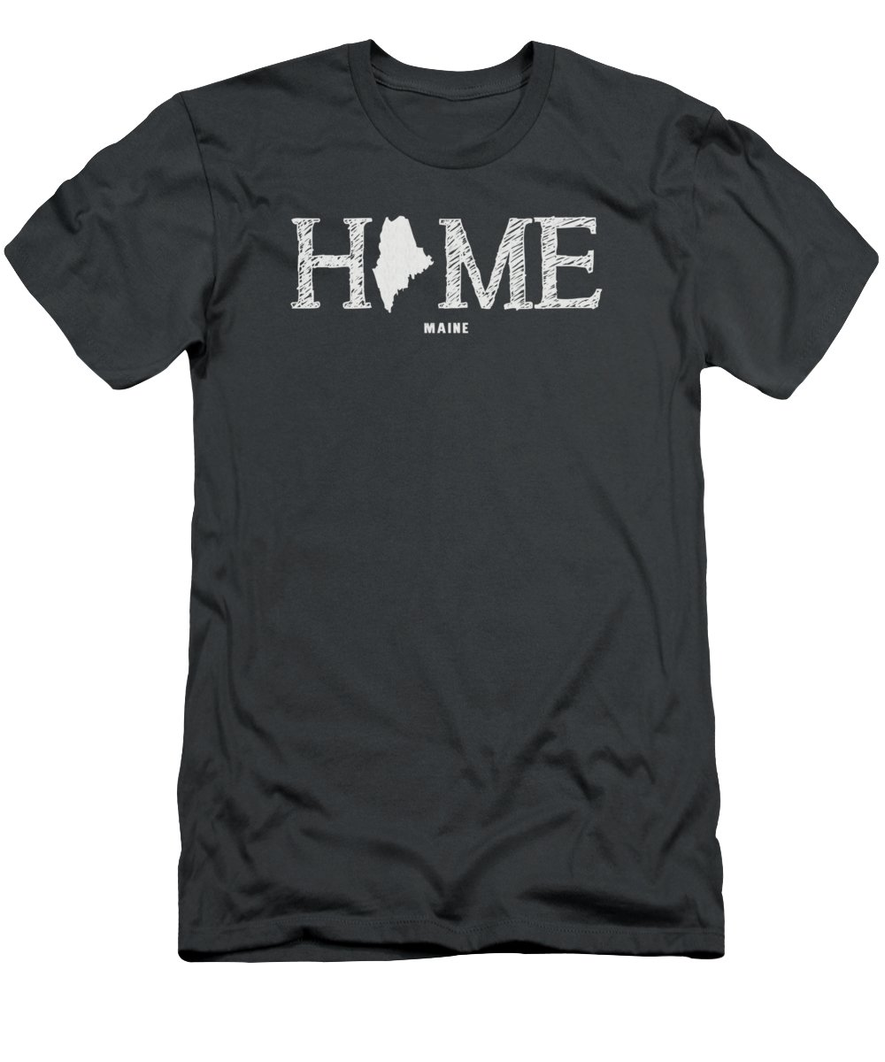 Maine Men's T-Shirt (Athletic Fit) featuring the mixed media Me Home by Nancy Ingersoll