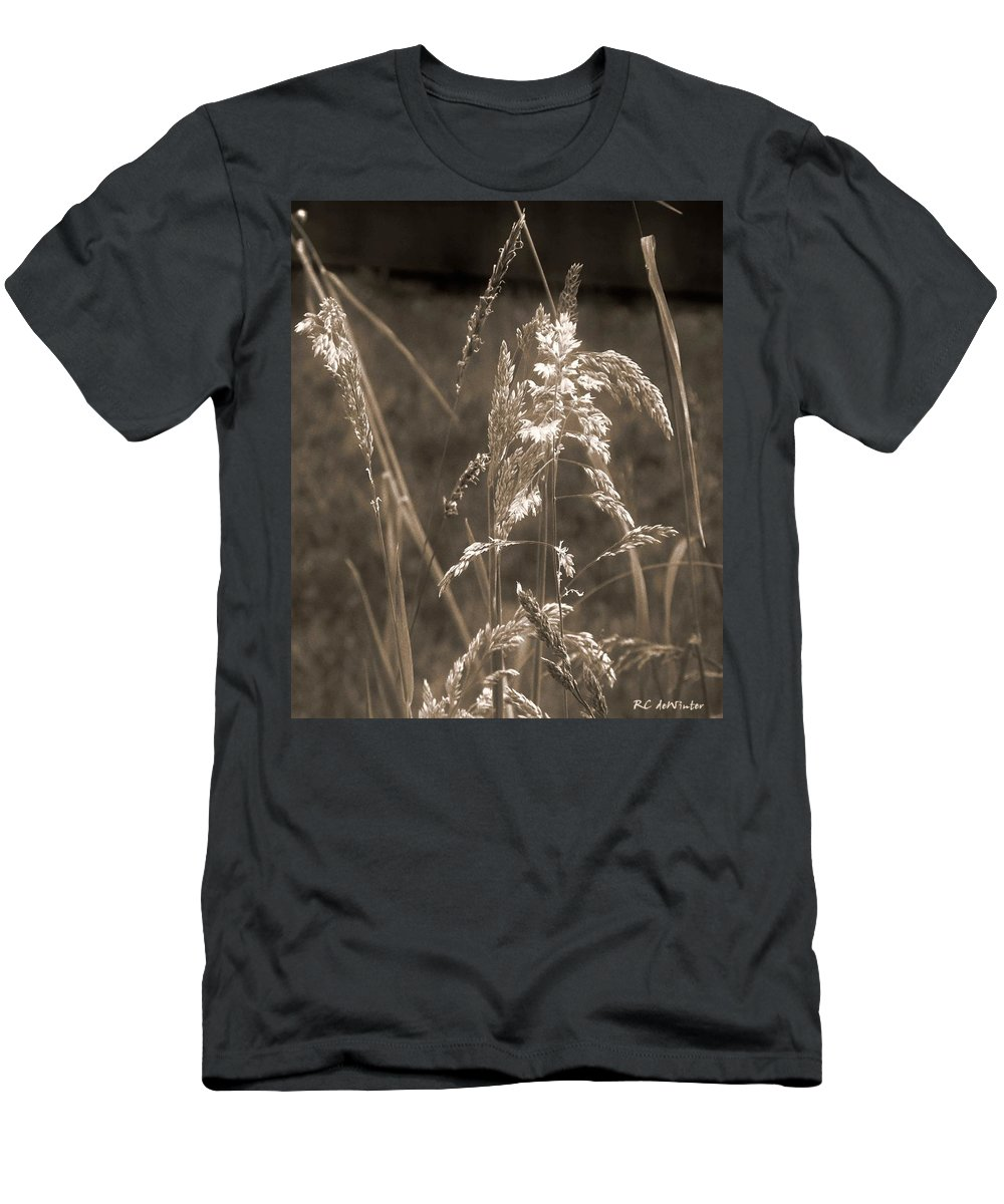 Connecticut Men's T-Shirt (Athletic Fit) featuring the photograph Meadow Grass In Sepia by RC DeWinter