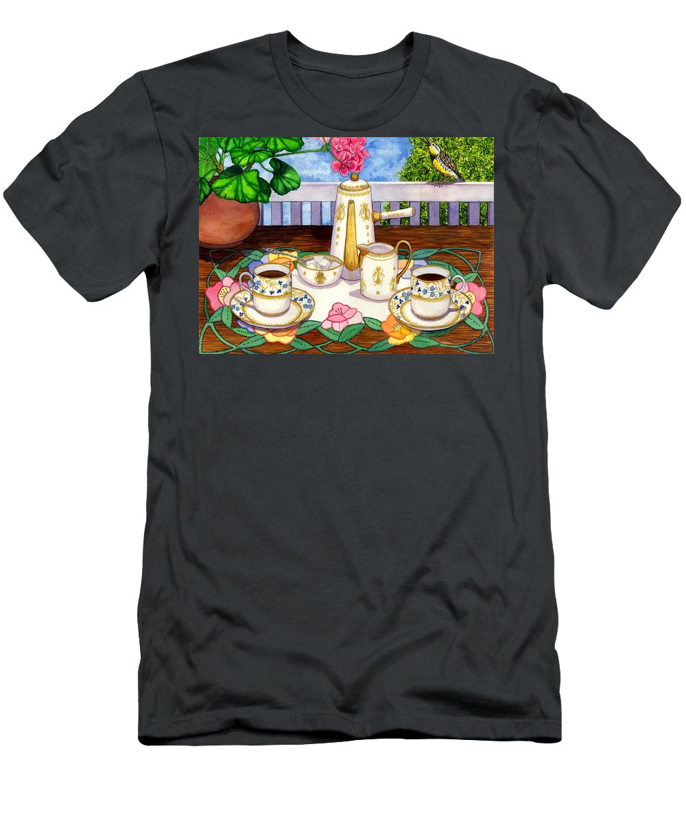 Coffee Men's T-Shirt (Athletic Fit) featuring the painting Meadowlark by Catherine G McElroy