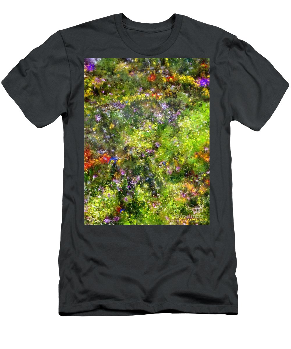 Meadow Men's T-Shirt (Athletic Fit) featuring the painting Meadowstars In Manx by RC DeWinter