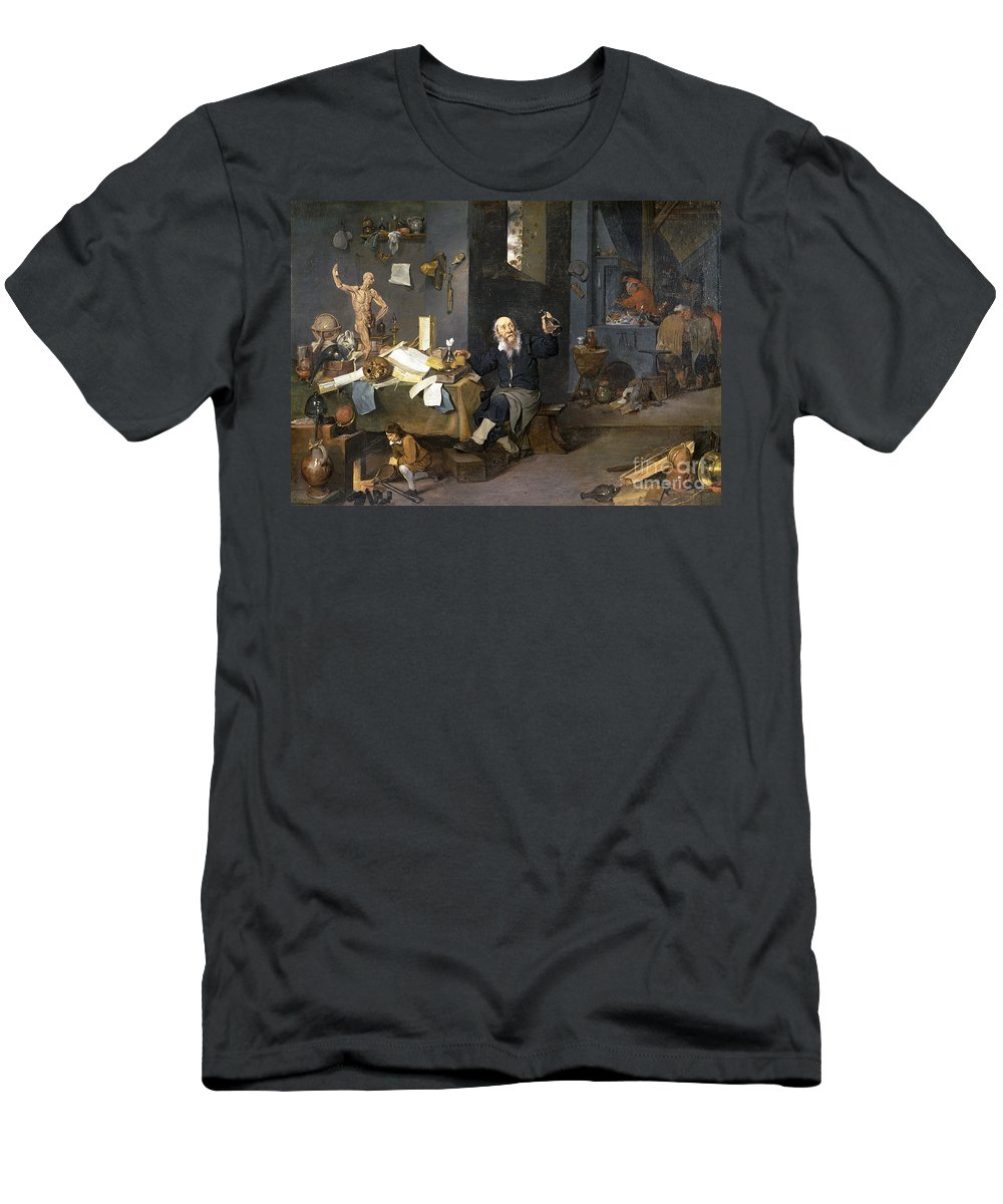 17th Century Men's T-Shirt (Athletic Fit) featuring the painting Medical Alchemist by Granger