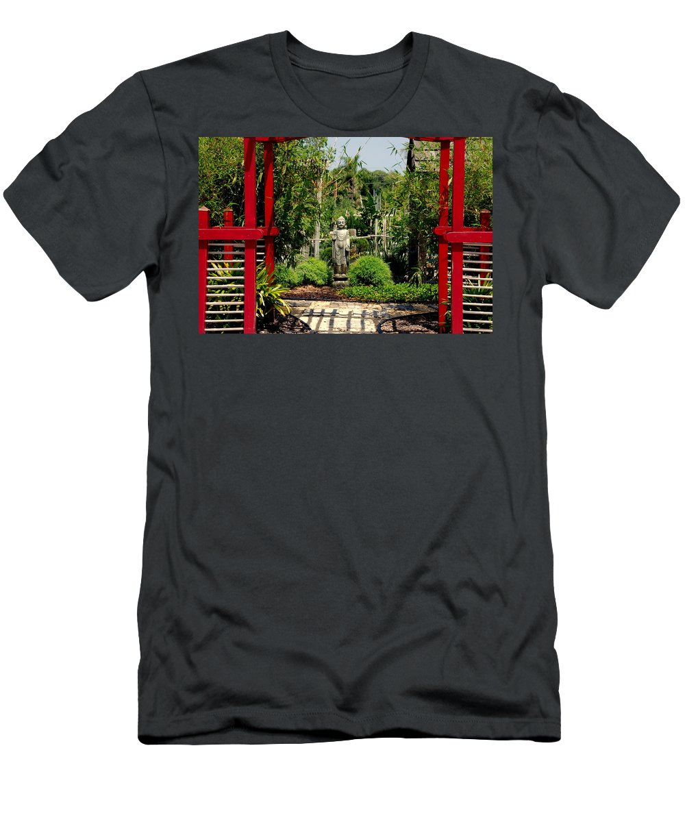 Meditation Men's T-Shirt (Athletic Fit) featuring the photograph Meditation Garden by Susanne Van Hulst