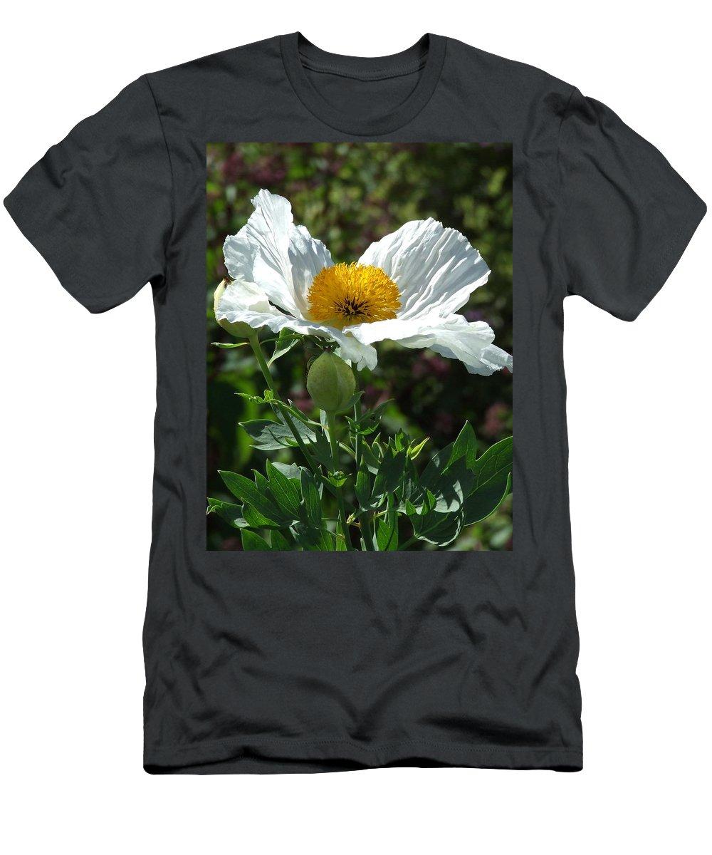 Poppy Men's T-Shirt (Athletic Fit) featuring the photograph Mega-poppy by Bob Kemp