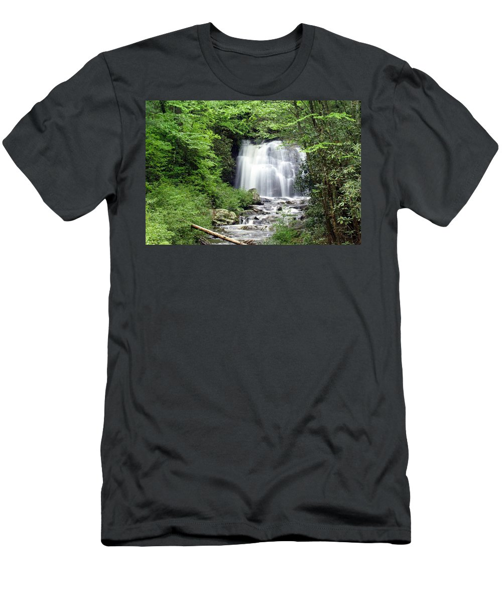 Meigs Falls Men's T-Shirt (Athletic Fit) featuring the photograph Meigs Falls by Marty Koch