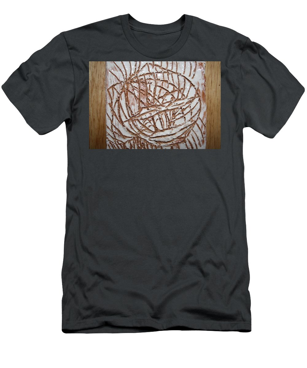 Jesus Men's T-Shirt (Athletic Fit) featuring the ceramic art Mellow - Tile by Gloria Ssali