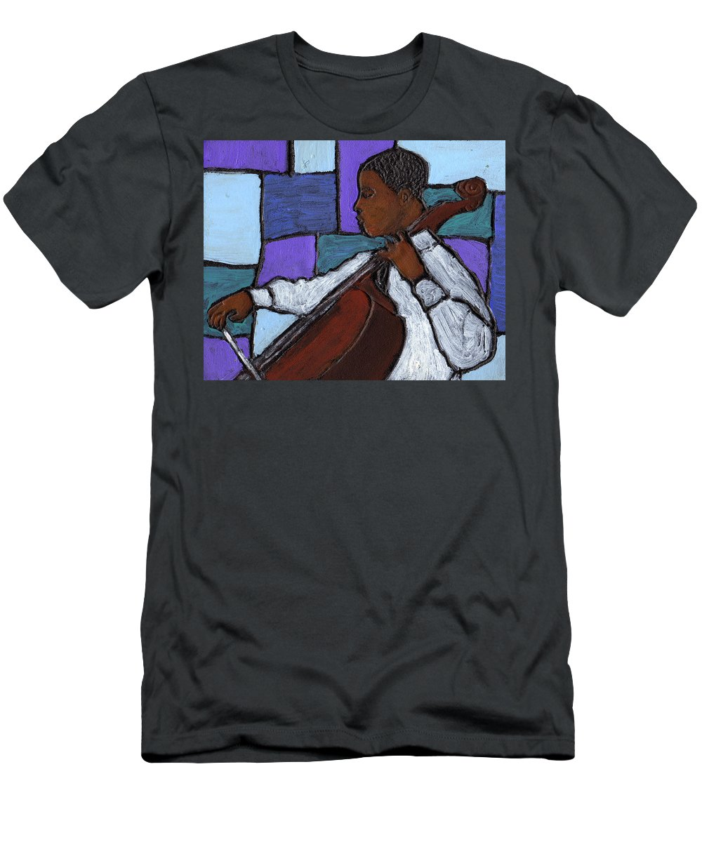 Blues Men's T-Shirt (Athletic Fit) featuring the painting Mellow Blues by Wayne Potrafka