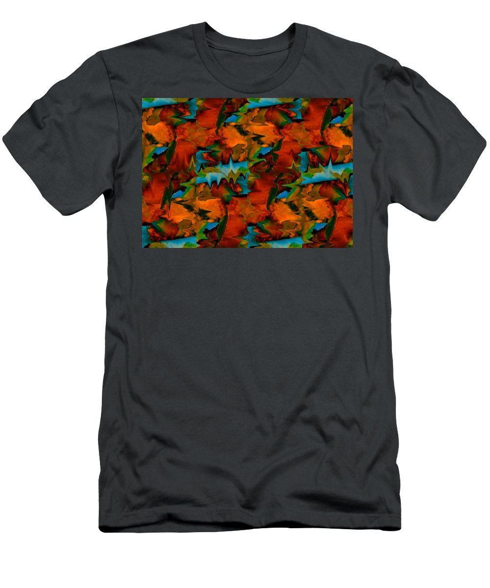 Abstract Men's T-Shirt (Athletic Fit) featuring the painting Meltdown by Stephen Anderson
